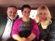 Con Manuel Aparicio y Vicky Calavia
