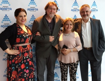Con Javier Espada, Marisa García Lacal y Manuel Aparicio