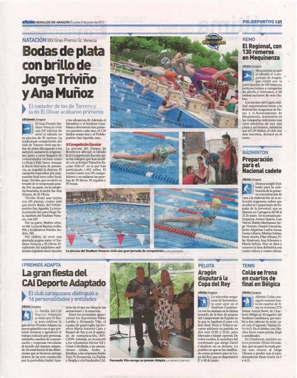 Nota en el Heraldo Afición (papel)