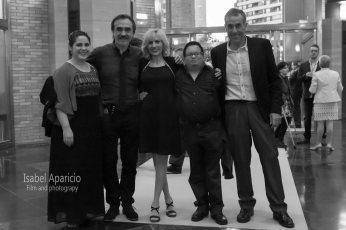 Con Antonio Magén, Carmen Aliaga, Jorge Aparicio y Domingo Carrillo
